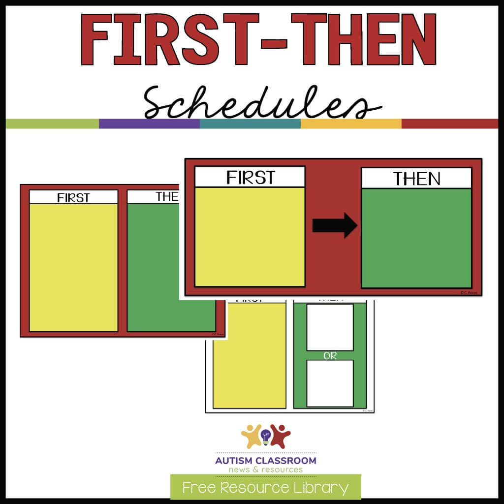 first-then schedules-Free Resource Library