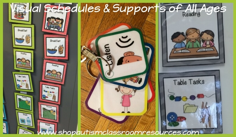 Visual Schedules & Supports from shopautismclassroomresources.com