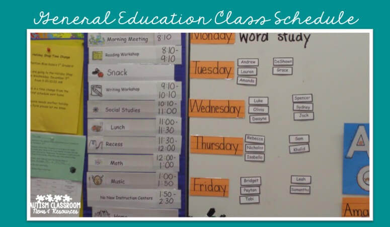 Group schedules for special education classrooms come in many different forms. Check out the post to see 5 reasons why they are important as well as many examples.