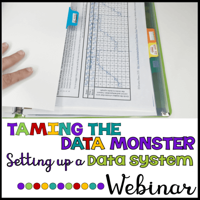 Taming the data monster, setting up a data system free webinar picture with graph. Click to sign up for the free webinar.