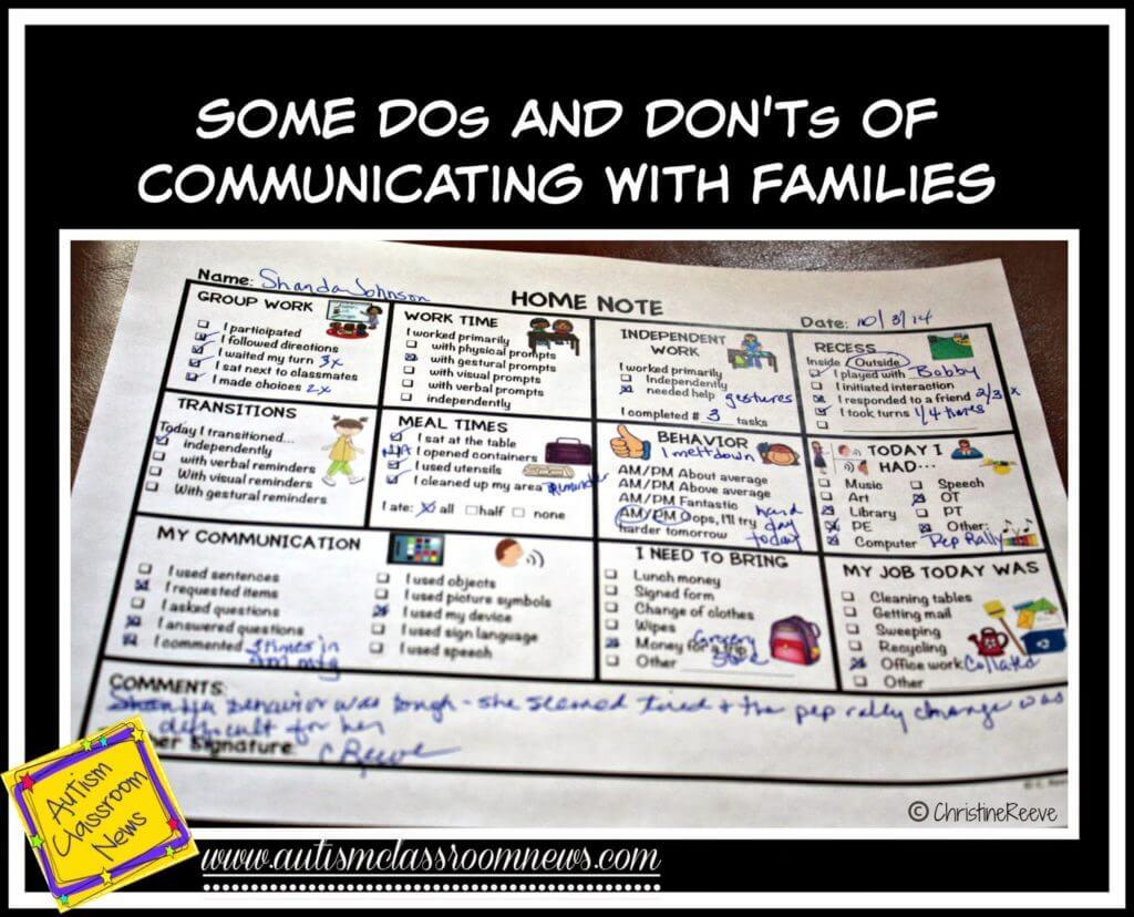 Effective home-school communication