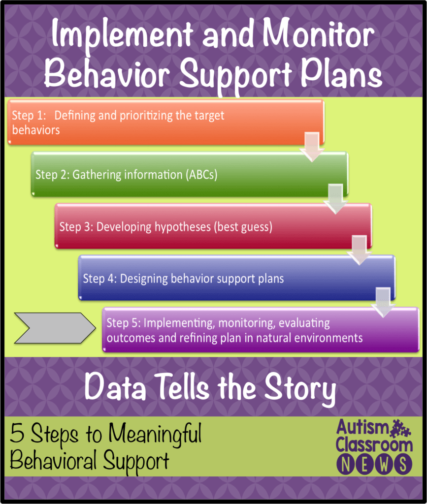 Implement and monitor behavior support plans; 5 steps to meaningful behavioral support