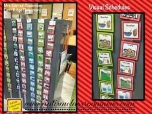 Schedules help prevent challenging behavior by increasing predictability of the day.