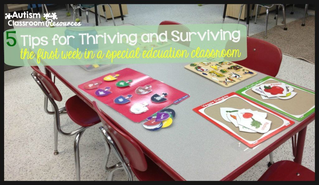 5 tips for thriving and surviving the first week of school in special educaiton
