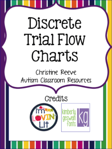 DTT procedures flow chart for ABA and Autism