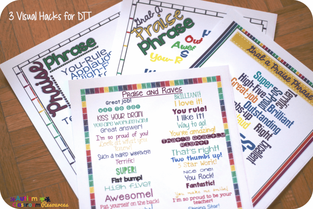 reinforcer phrases for ABA instruction Autism Classroom Resources