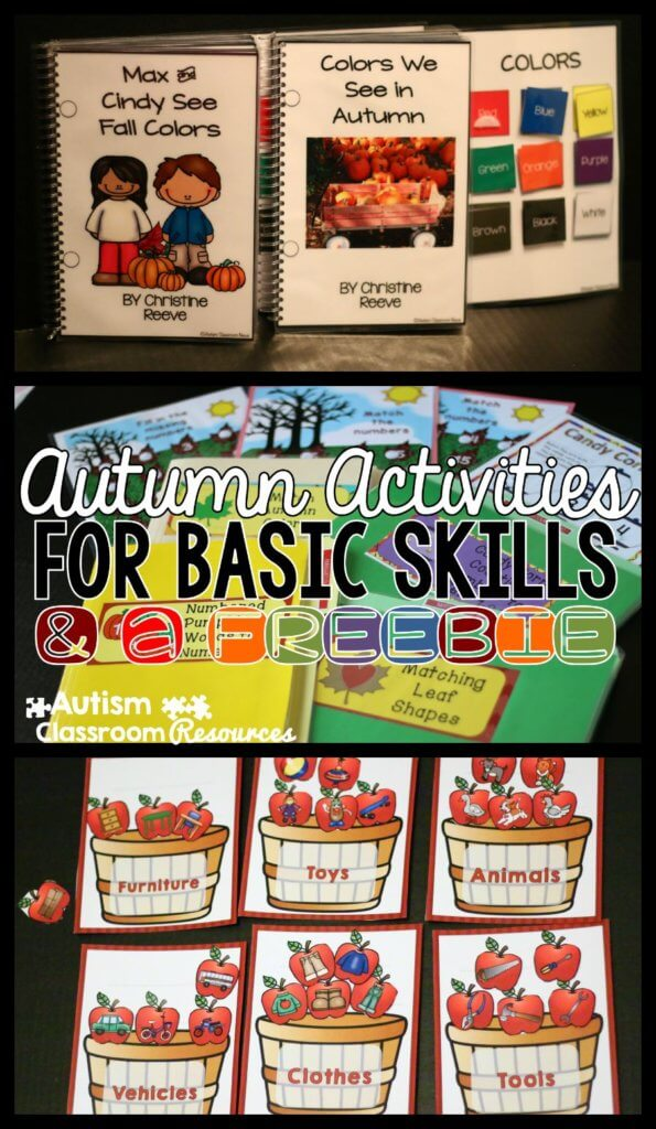 Autism Autumn Activities for Basic Skills and a Freebie--Autism Classroom Resources