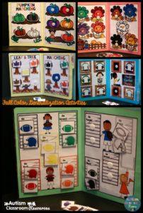 Fall Color Generalization Activities Autism Classroom News