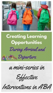Creating learning opportunities during arrival and departure from Autism Classroom News