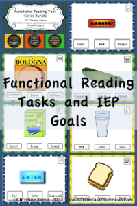functional reading resources and IEP goals