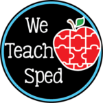 We Teach SPED is a set of special education bloggers who have come together to collaborate among our blogs to provide quality information for teachers through our #WeTeachSPED Facebook page.