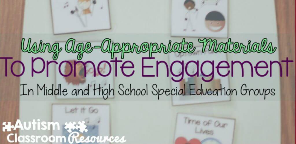Ways to promote engagement in functional curriculum with age-appropriate materials