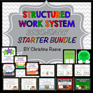 Structured Work System Secondary Starter Bundle from Autism Classroom News