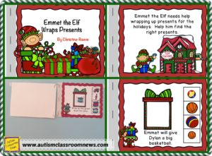 Free Interactive Book for Holidays from Autism Classroom Resources.