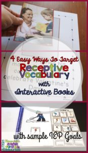4 Easy Ways to Target Receptive Vocabulary with Interactive Books from Autism Classroom Resources
