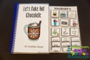 Interactive book with title and author for identification to foster literacy from Autism Classroom Resources