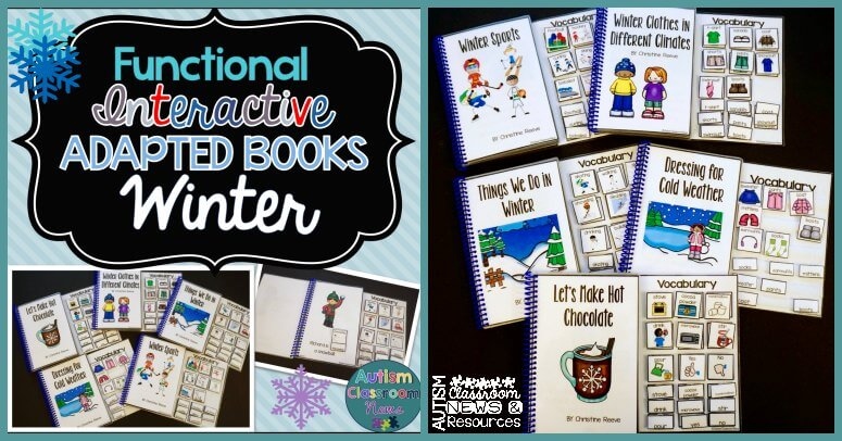 Functional Interactive Adapted Books for Winter from Autism Classroom News on TPT