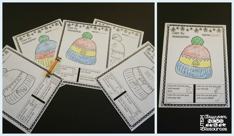 Print and Go Category Sheets from Autism Classroom Resources
