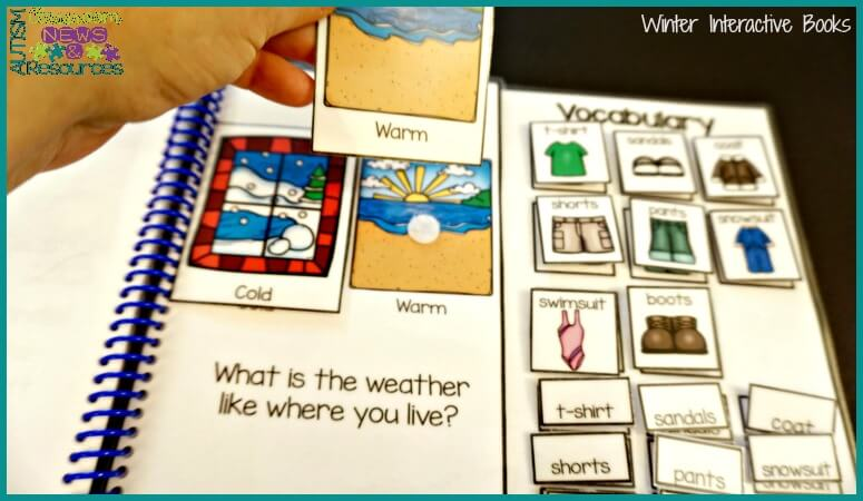 Winter interactive books promote literacy for students with disabilities from Autism Classroom Resources