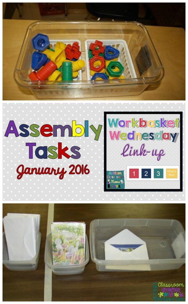 Workbasket Wednesday Assembly Tasks from Autism Classroom Resources