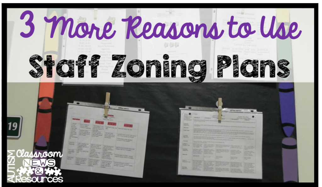 3 more reasons to use staff zoning plans by Autism Classroom Resources
