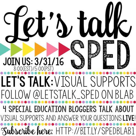 Let's Talk SPED Blab on Visual Supports!