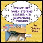 Structured Work Systems Starter Kit Elementary Edition from Autism Classroom News