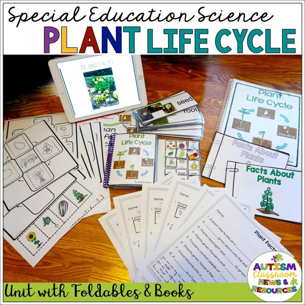Special Education Science: Plant Life Cycle: Unit with Foldables and Book