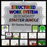 Secondary Structured Work System Bundle for Life Skills --STarter Kit and Tasks