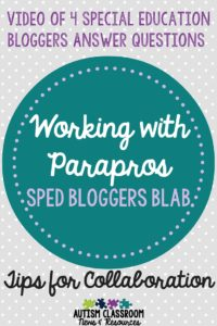 Working with Paraprofessionals in Special Education Blab Video