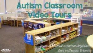 Baudhuin Preschool Autism Classroom Tour Videos that show how preschool classrooms are set up.