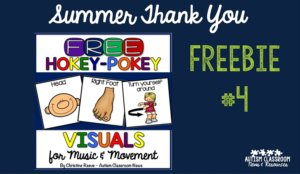 Free visual supports for music and movement with the hokey pokey