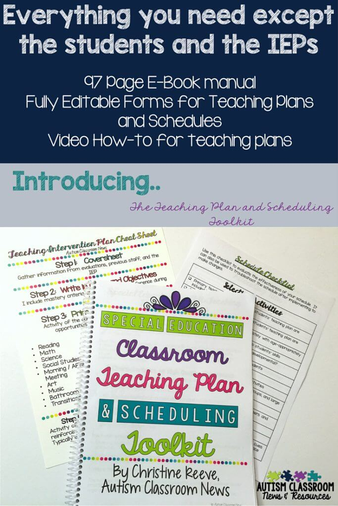 This classroom starter kit has everything you need to set up the classroom schedule based on the individuals' needs.