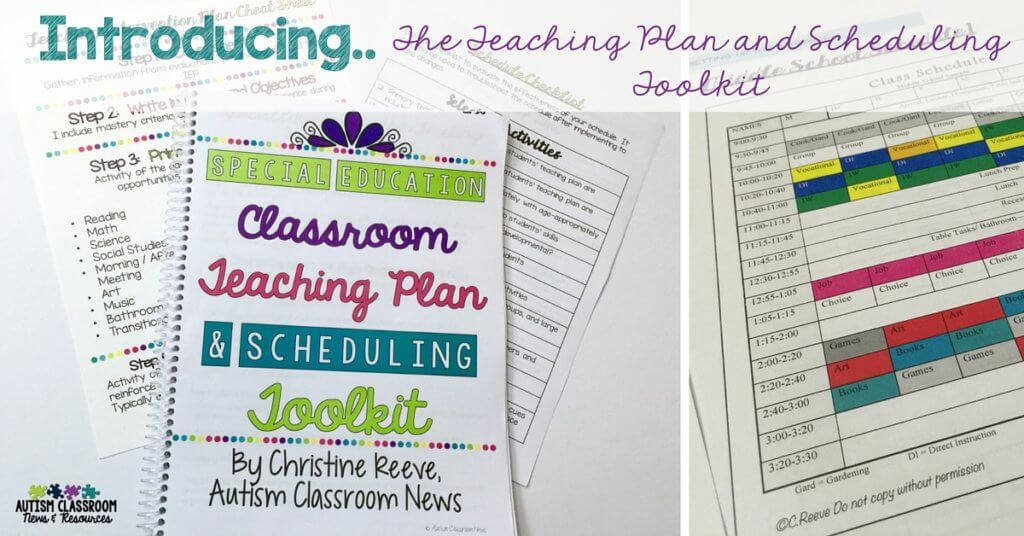 Provides a thorough and easy to follow process of outlining your classroom schedule based on the needs of the students.