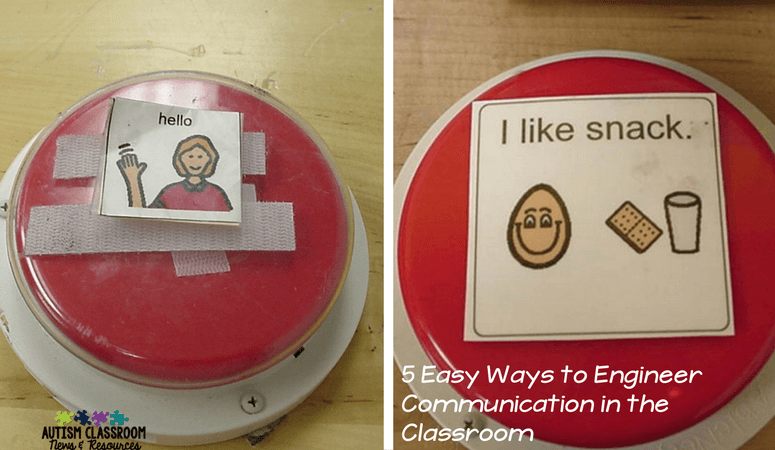 Speech generating devices are one of the 5 easy ways to engineer the special education classroom for different functions of communication.