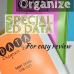 We all struggle with organizing special ed data. I'm sharing how I organize it in program books and rounding up posts about how I implement data within the classroom.