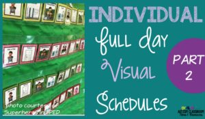 Individual schedules for autism come in many different forms. See examples of different types used in classes of all ages.