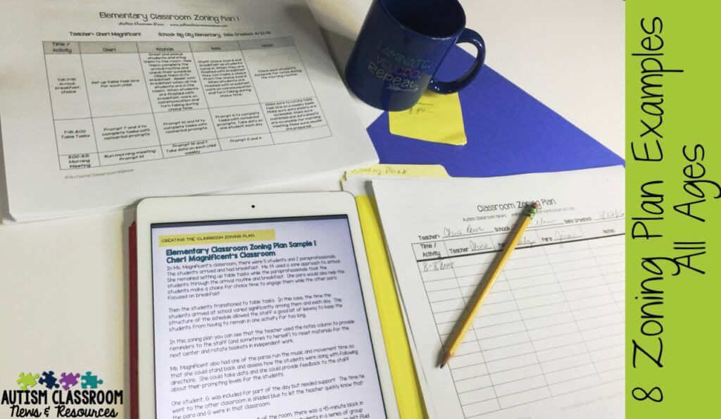 This toolkit includes editable forms and tools for creating classroom zoning plans (or staff schedules) in special education. I also includes 8 examples of zoning plans to use to build your own.