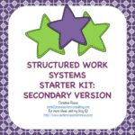 structured work system starter kit secondary from Autism Classroom News Store