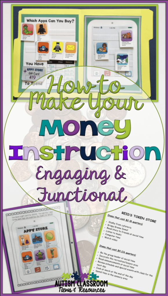 Our students in special education really need to learn effective money skills that will serve them through their lives. In order to do that we need to make sure we are teaching it at all different ages and with enough intensity to benefit. However, trying to keep coming up with functional ways for the students to use money so it's engaging and effective can be hard. Today's blog post focuses on how to make money instruction meaningful and interesting and includes our Facebook Live discussion for more ideas.