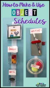 How to make and use object schedules - examples of object schedules