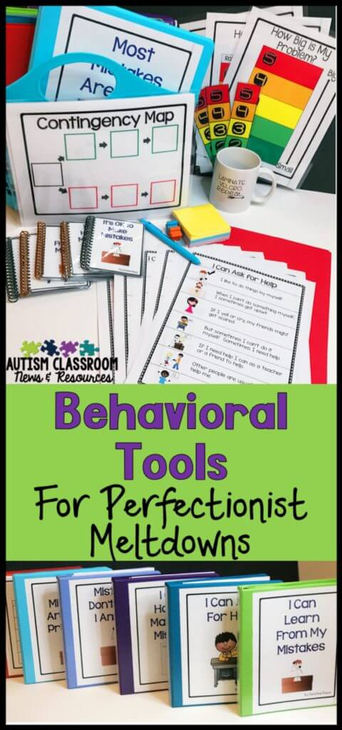 Do you have students with autism who need to learn appropriate coping strategies to avoid overreacting if they make a mistake. Social stories, contingency maps, and size of my problem scales can help students learn better ways to manage their own behavior. This post describes these tools and how they can be used.