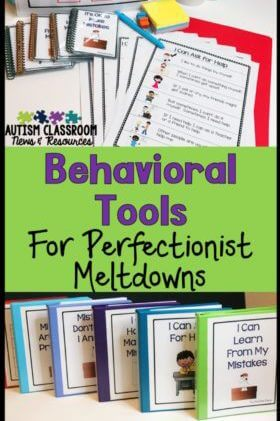 This toolkit was designed to help students with autism learn appropriate coping strategies to avoid overreacting if they make a mistake. Social stories, contingency maps, and size of my problem scales are used to help students learn better ways to manage their own behavior. This post describes the tools and how they can be used.