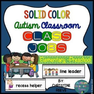 Helper jobs for the autism classroom can be such a great step in managing challenging behavior for students who seek attention.