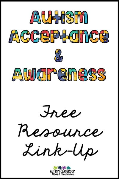 In addition to raising awareness and acceptance for autism, I always feel that the month of April warrants sharing resources with those charged with educating those in the autism community. So this is a linkup of tons of free activities you can use with your students or families.