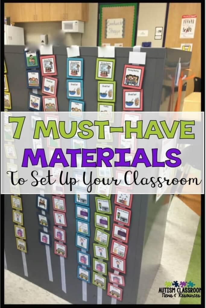 Let's face it. We can always use MORE things in our classroom, but there just isn't time enough in the day. Here are the 7 sets of must-have materials to get your special education classroom up and running quickly.