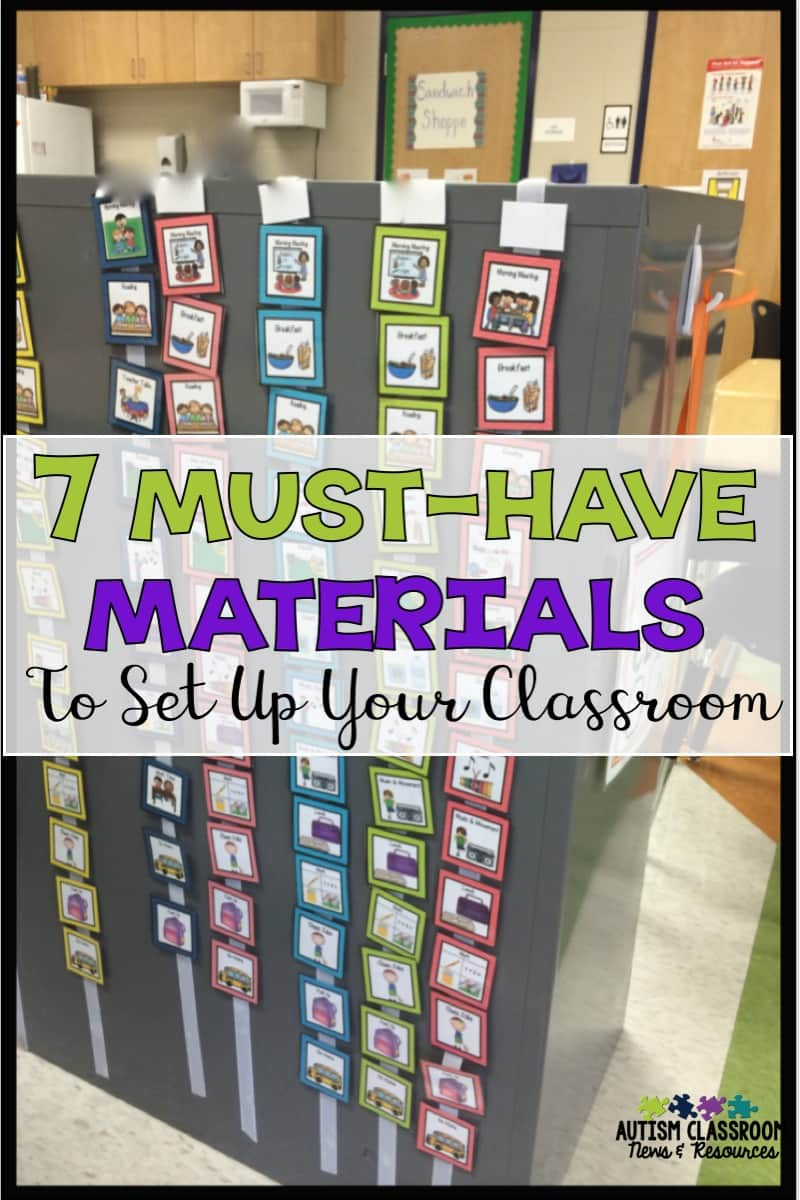Get Your Special Education Classroom Up Running Quickly 7 Must Have Classroom Tools Autism Classroom Resources