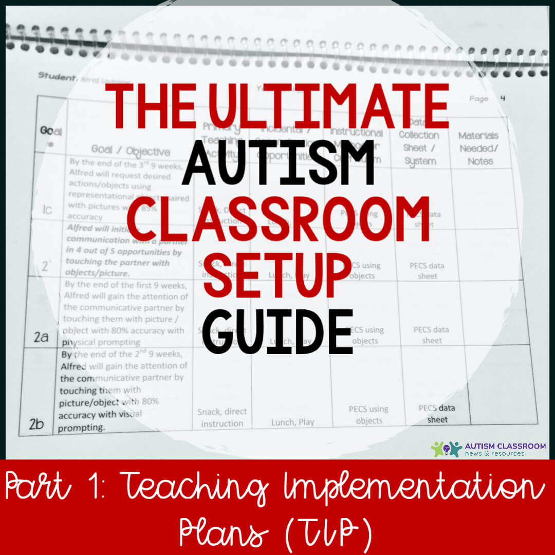 The Ultimate Autism Classroom Setup Guide: Part 1 Teaching Implementation Plans (TIP)