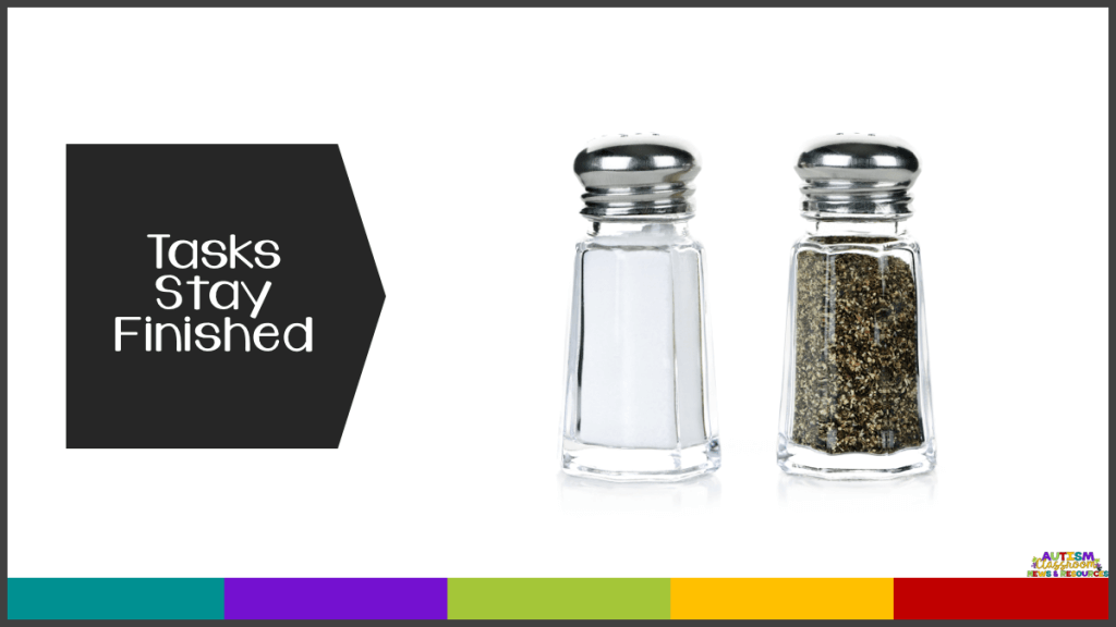Tasks Stay Finished-picture of salt and pepper shakers