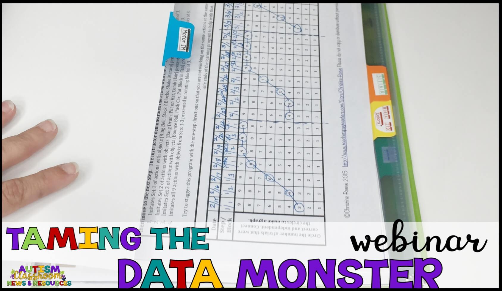 Join us for a free webinar to help you develop a data collection system that can work in your classroom.